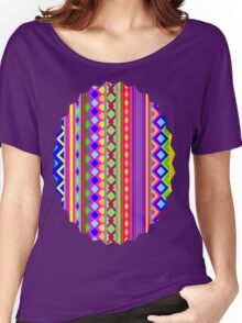 Aztec Psychedelic Chevron Pattern Women's Relaxed Fit T-Shirt