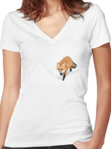 Red Fox - Algonquin Park Women's Fitted V-Neck T-Shirt