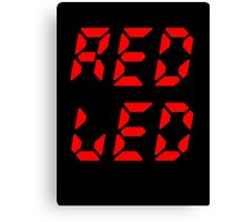 RED LED retro techno Canvas Print