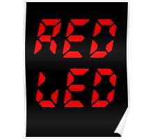 RED LED retro techno Poster