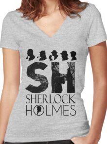 SherlockHolmes 0010 Women's Fitted V-Neck T-Shirt