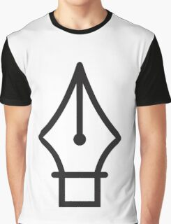 Pen Tool Graphic T-Shirt