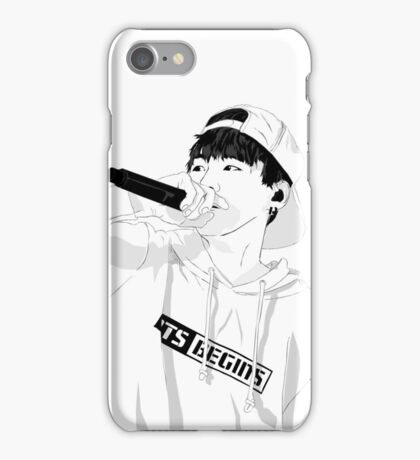 BTS Suga on Stage - Monochrome version iPhone Case/Skin