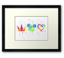 """The Heart, the King and the Crown"" Framed Print"
