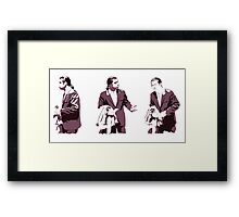 Vincent Vega Confused Framed Print