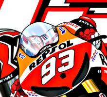 Marc marquez, Motogp World Champion 93 and bike Sticker