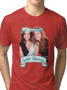 Lana Parrilla & Rebecca Mader - Sass Queens Tri-blend T-Shirt