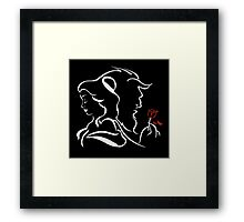 beauty and the beast red rose Framed Print