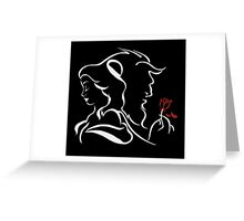 beauty and the beast red rose Greeting Card