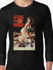 Retro Vintage Drive in Movie Attack of the 50 ft. Woman Long Sleeve T-Shirt