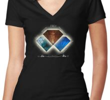 The stones which caused Mayhem Women's Fitted V-Neck T-Shirt