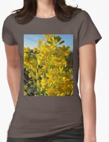 Yellow flower power  Womens Fitted T-Shirt