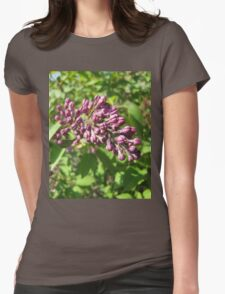 Lilac flowers soon Womens Fitted T-Shirt