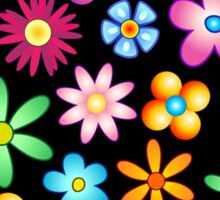 Spring Flowers Colorful Naif Design Sticker