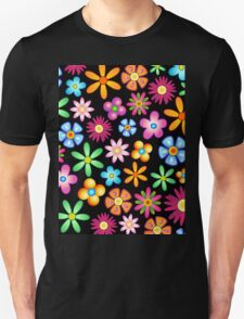 Spring Flowers Colorful Naif Design Unisex T-Shirt
