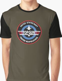 United States Navy Fighter Weapons School Top Gun Insignia Graphic T-Shirt