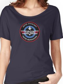 United States Navy Fighter Weapons School Top Gun Insignia Women's Relaxed Fit T-Shirt