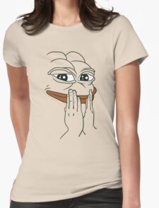 "Pepe The Frog ""FEEL GOOD"" Womens Fitted T-Shirt"