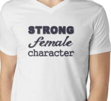 Strong Female Character Mens V-Neck T-Shirt