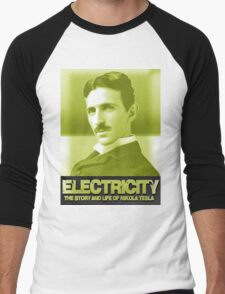 Electricity Nikola Tesla Men's Baseball ¾ T-Shirt