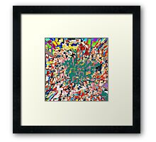 Paper Scrap Abstract Design Framed Print