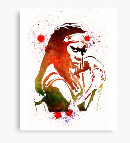 Walking Dead Michonne Stencil Style Canvas Print