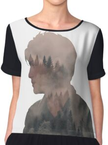 Alec - Shadowhunters - Forest Chiffon Top