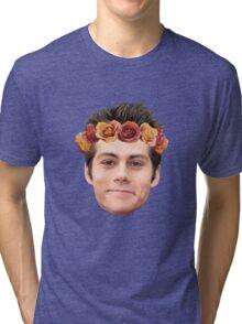 Dylan O'Brian Flower Crown Tri-blend T-Shirt