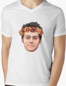 Dylan O'Brian Flower Crown Mens V-Neck T-Shirt
