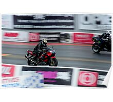 bikes on track Poster