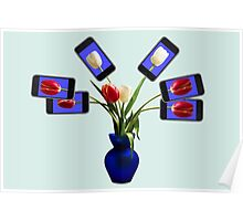 iphone flowers in vase Poster