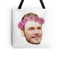 Chris Pratt Flower Crown Tote Bag