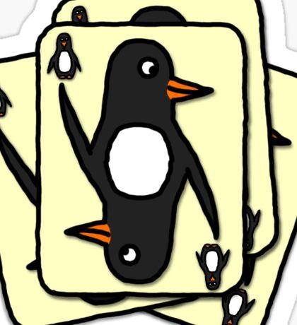 Shuffling Penguins [Small] Sticker