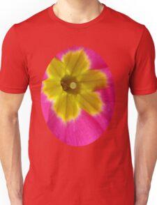 Pink and Yellow Primrose Macro Unisex T-Shirt