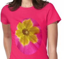 Pink and Yellow Primrose Macro Womens Fitted T-Shirt