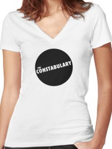 Thesaurus Band Shirts - The Constabulary  Women's Fitted V-Neck T-Shirt