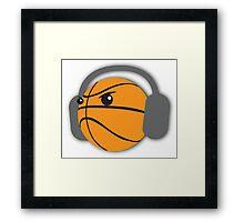 CRAZY headphones BASKETBALL Framed Print