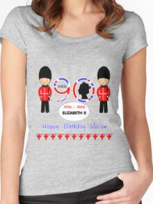 The Queens 90th Birthday Commemorative Design  Women's Fitted Scoop T-Shirt