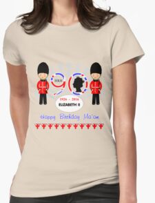 The Queens 90th Birthday Commemorative Design  Womens Fitted T-Shirt