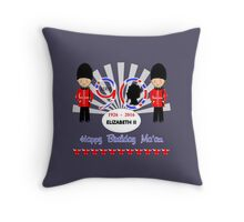 The Queens 90th Birthday Commemorative Design  Throw Pillow