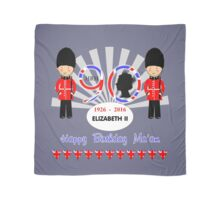 The Queens 90th Birthday Commemorative Design  Scarf
