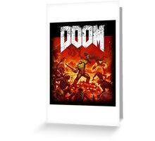Doom 2016 Poster/Cover Greeting Card