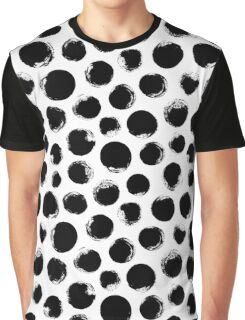 Grunge Polka Dot Graphic T-Shirt