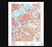 USGS TOPO Map New Jersey NJ Camden 254241 1967 24000 Unisex T-Shirt