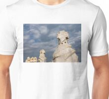 Whimsical Chimneys - Antoni Gaudi Casa Mila Rooftop Unisex T-Shirt