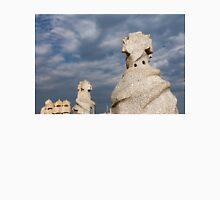 Whimsical Chimneys - Antoni Gaudi's Casa Mila Rooftop Unisex T-Shirt