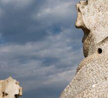 Whimsical Chimneys - Antoni Gaudi Casa Mila Rooftop Sticker