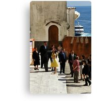 Greeting the Groom Canvas Print