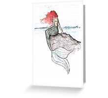 Mermaid - color version Greeting Card