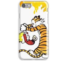 Calvin and Hobbes Playing  iPhone Case/Skin